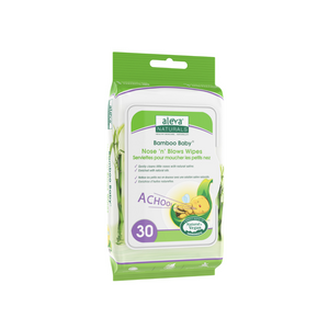 Aleva Naturals Bamboo Baby Nose 'n' Blows Wipes (30ct)