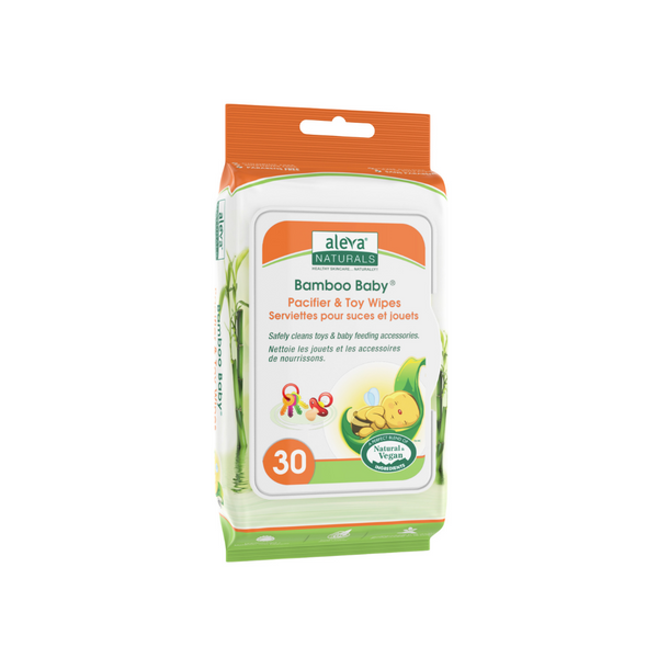 Aleva Naturals Bamboo Baby Pacifier & Toy Wipes (30ct)