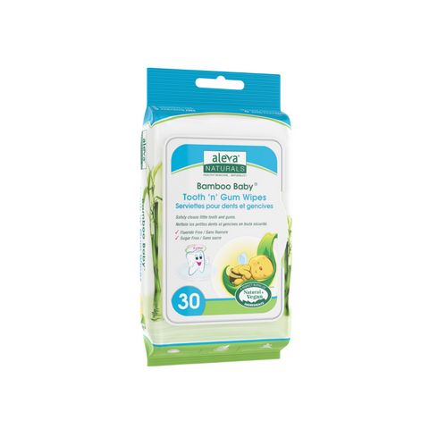 Aleva Naturals Bamboo Baby Tooth 'n' Gum Wipes (30ct)