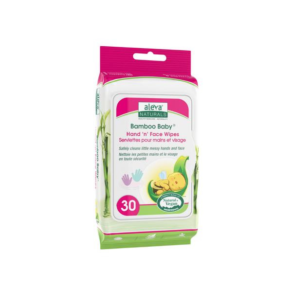 Aleva Naturals Bamboo Baby Hand 'n' Face Wipes (30ct)