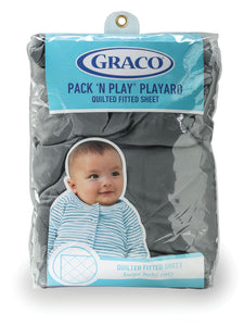Graco PNP Playard Quilted Sheet - Grey