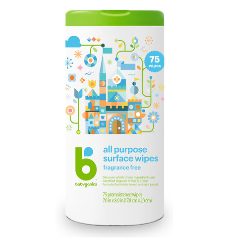 Babyganics All Purpose Wipes, 75 sheets, Fragrance Free