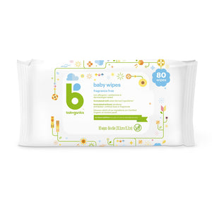 Babyganics Baby Wipes, 80 sheets