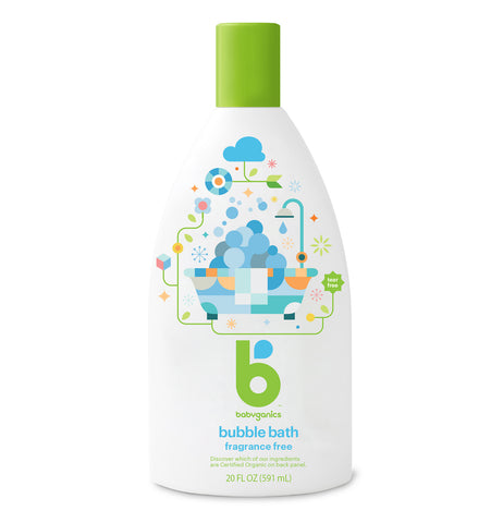 Babyganics Bubble Bath 591ml, Fragrance Free