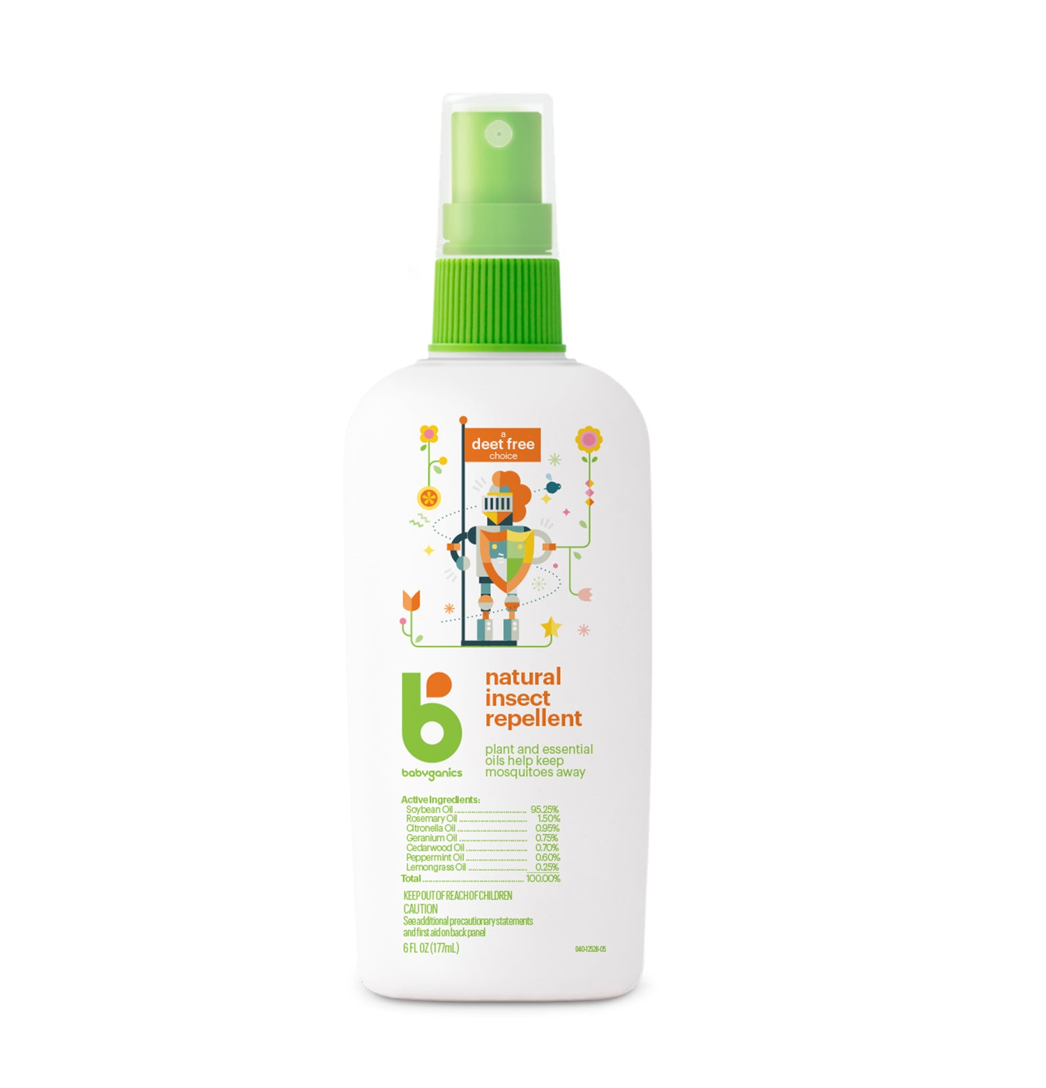 Babyganics Natural insect repellant, 177ml