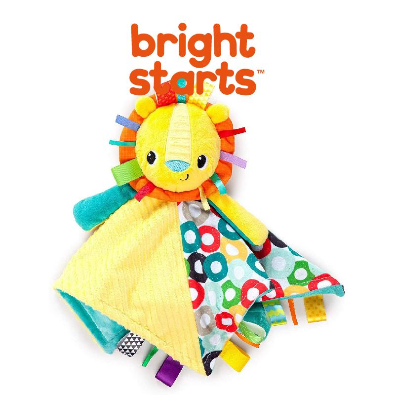 Bright Starts Cuddles & Tags Blankie Blanket - Lion BS10213 DIS - Picket&Rail