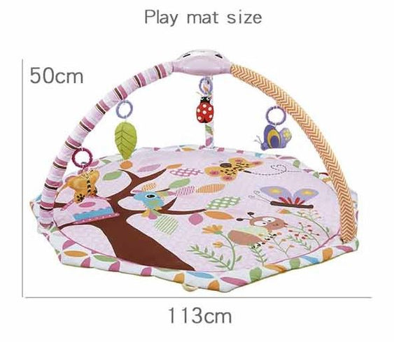 Konig Kids Play Gym With Lights Projection & Music (Pink Butterfly/Happy Jungle)