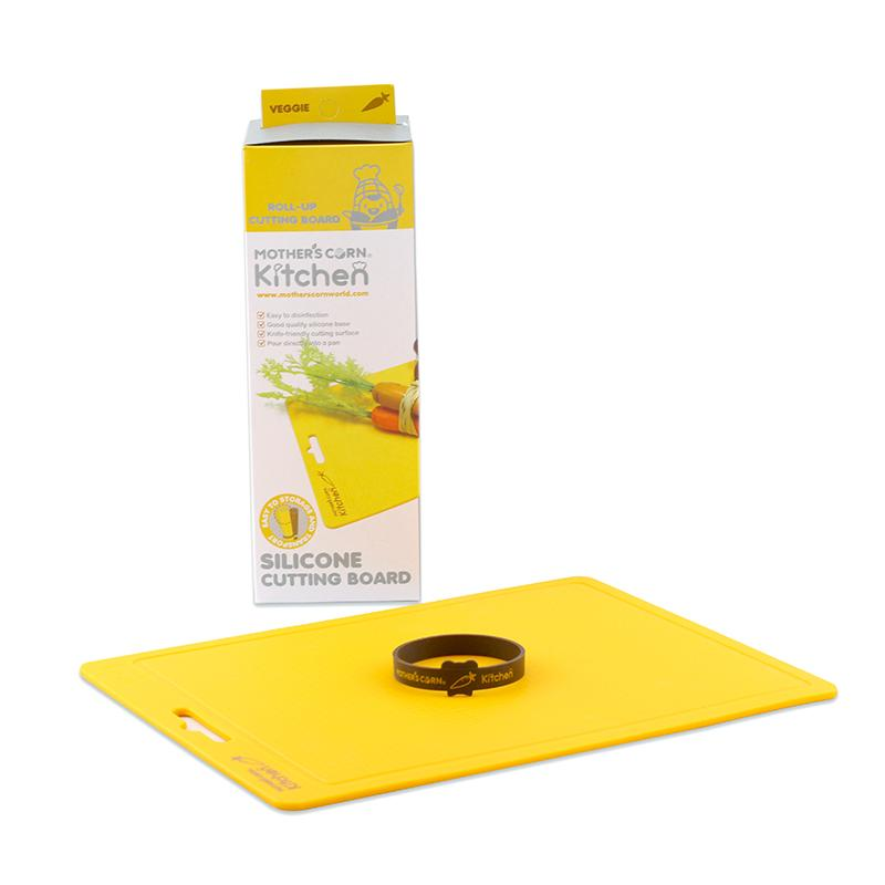Mother's Corn Silicone Cutting Board Yellow
