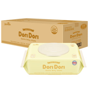 Dori Dori Soft Plain with Cap Wet Wipes (100 sheets x 10 packs) - Dori Dori