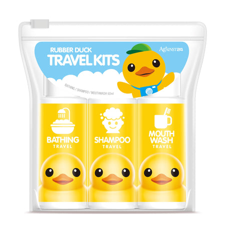 Against24 Rubber Duck Travel Kits (Bathing, Shampoo, Mouth Wash)