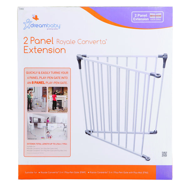 Dreambaby DB01950 (30) Royale Converta Playpen Set of 2 Extensions - White