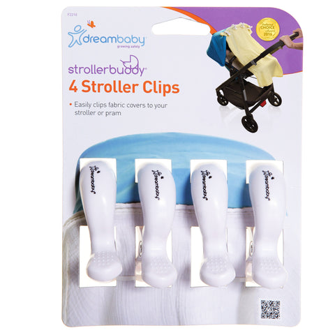 Dreambaby Stroller Clips 4pk - White DB02210 - Picket&Rail
