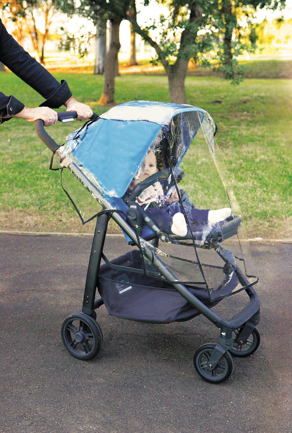 Dreambaby DB00259 (30) Stroller Weather Shield - Black Piping
