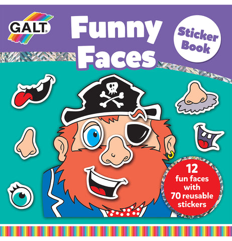 Funny Faces Sticker Book - Galt