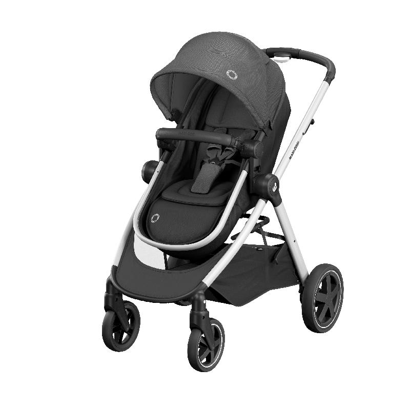 Maxi-Cosi Zelia Stroller - Essential Black (0m-3.5y) (0-15kg) MC1210672301 - Picket&Rail