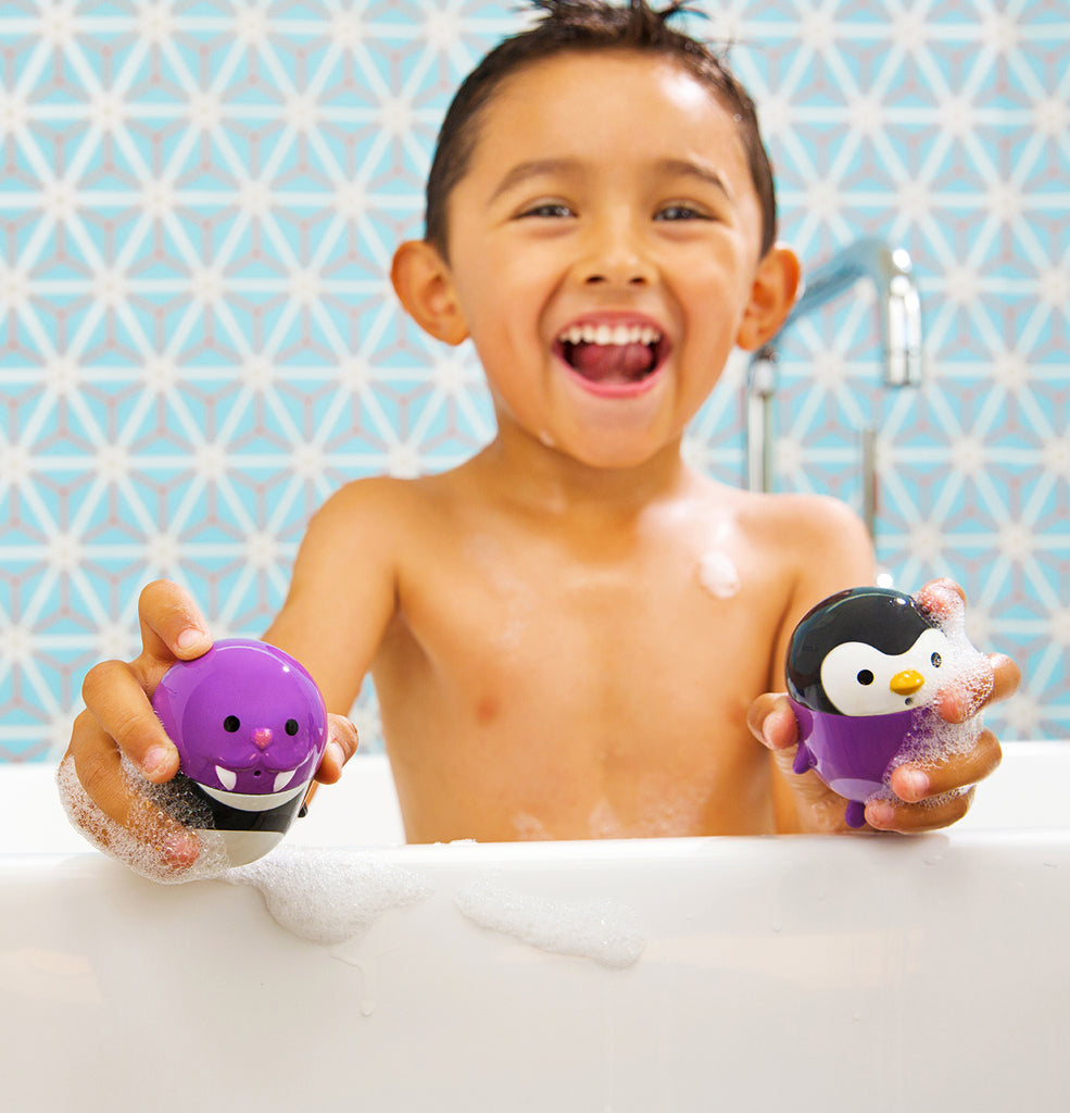 CleanSqueeze™ Mold-Free Bath Squirts - Penguin/Walrus - Munchkin