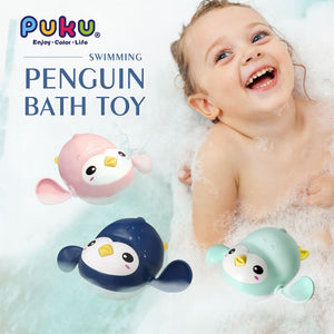 PUKU Penguin Bath Toy (Blue/Pink/Green)