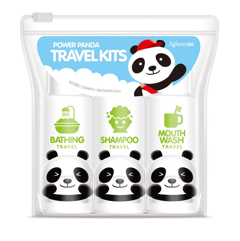 Against24 Power Panda Travel Kits (Bathing, Shampoo, Mouth Wash)