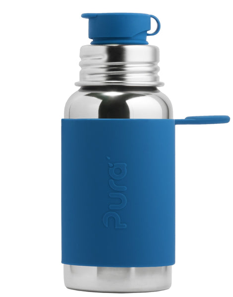 Pura PR550NSP/SB 550ml Sports Bottle & Sleeve - Steel Blue