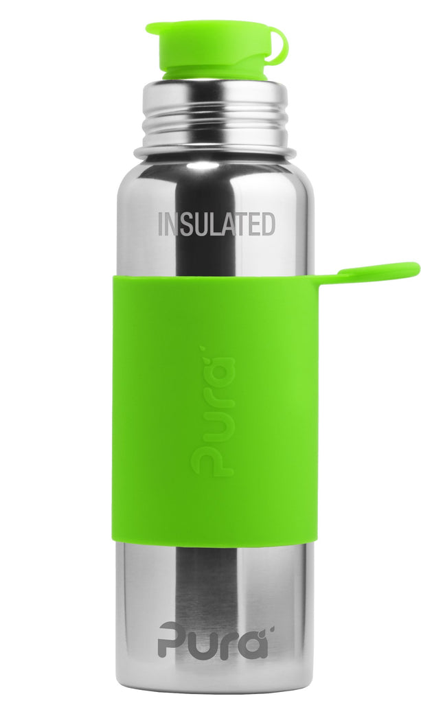 Pura PR650ISP/G 650ml Insulated Sports Bottle & Sleeve - Green