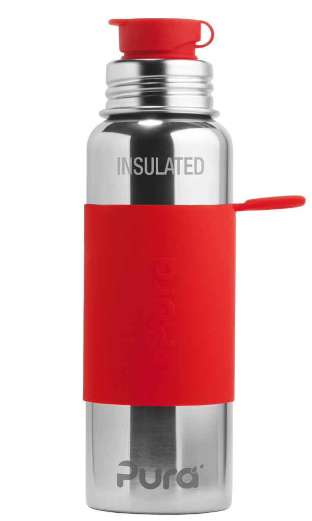 Pura PR650ISP/OS 650ml Insulated Sports Bottle & Sleeve - Red