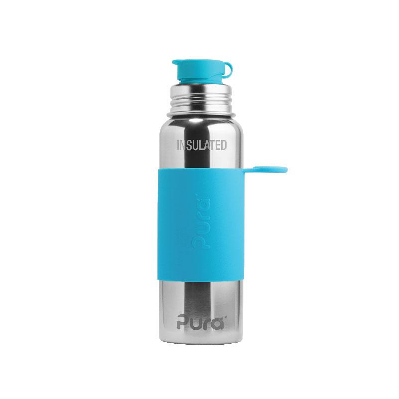 Pura PR650ISP/A 650ml Insulated Sports Bottle & Sleeve - Aqua