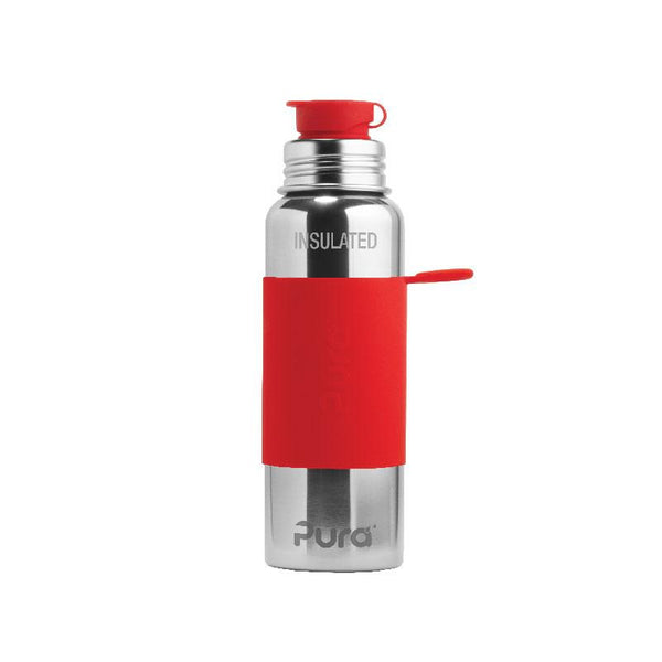 Pura 650ml Insulated Sports Bottle & Sleeve - Red PR650ISP/R - Picket&Rail