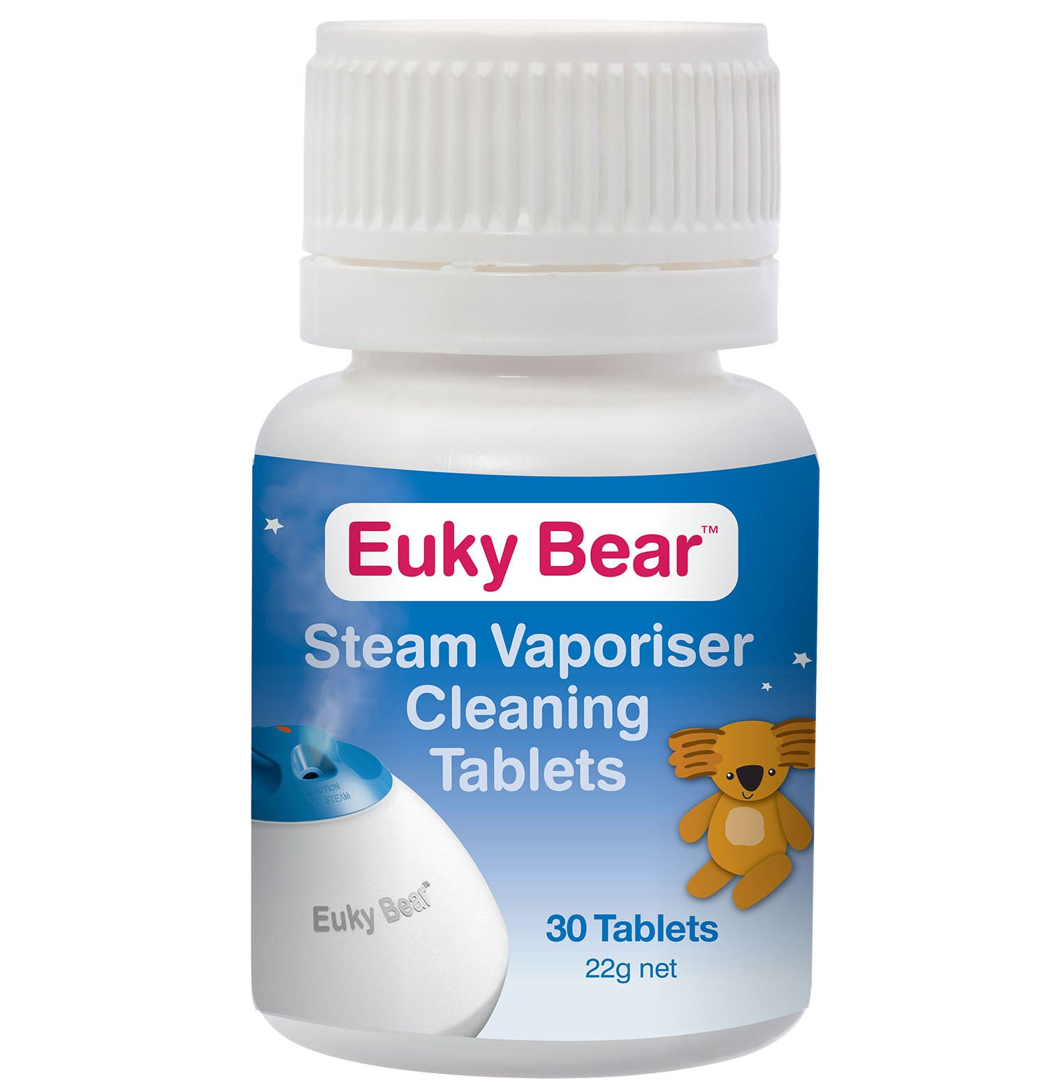 Euky Bear Steam Vaporiser Cleaning Tablets 30s
