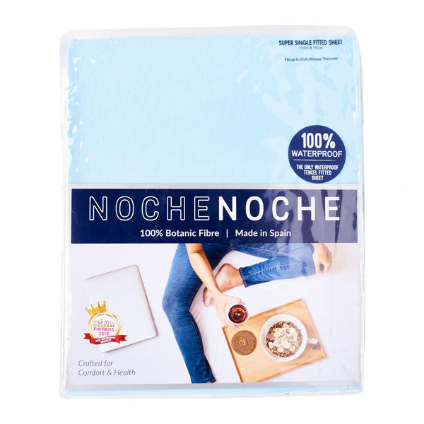 Noche Noche NN211XX (22/40) Super Single Fitted Bedsheet Set (43cm) (1 Bedsheet + 1 Pillow Case)