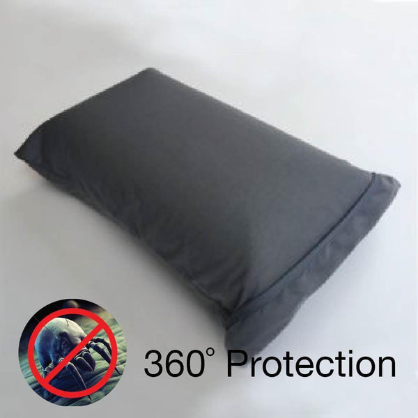 Anti-Bedbug Waterproof Travel Pillow Case - GREY (46X32CM) - Picket&Rail Singapore's Premium Furniture Retailer