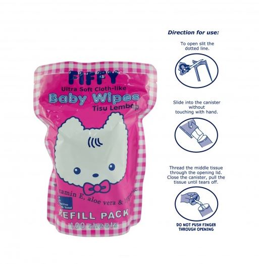 FIFFY Baby Wet Wipes Combo (1 Canister + 300 Sheets) - BUNDLE DEAL