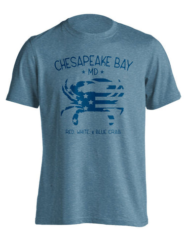 VINTAGE AMERICAN CRAB (BLUE INK)