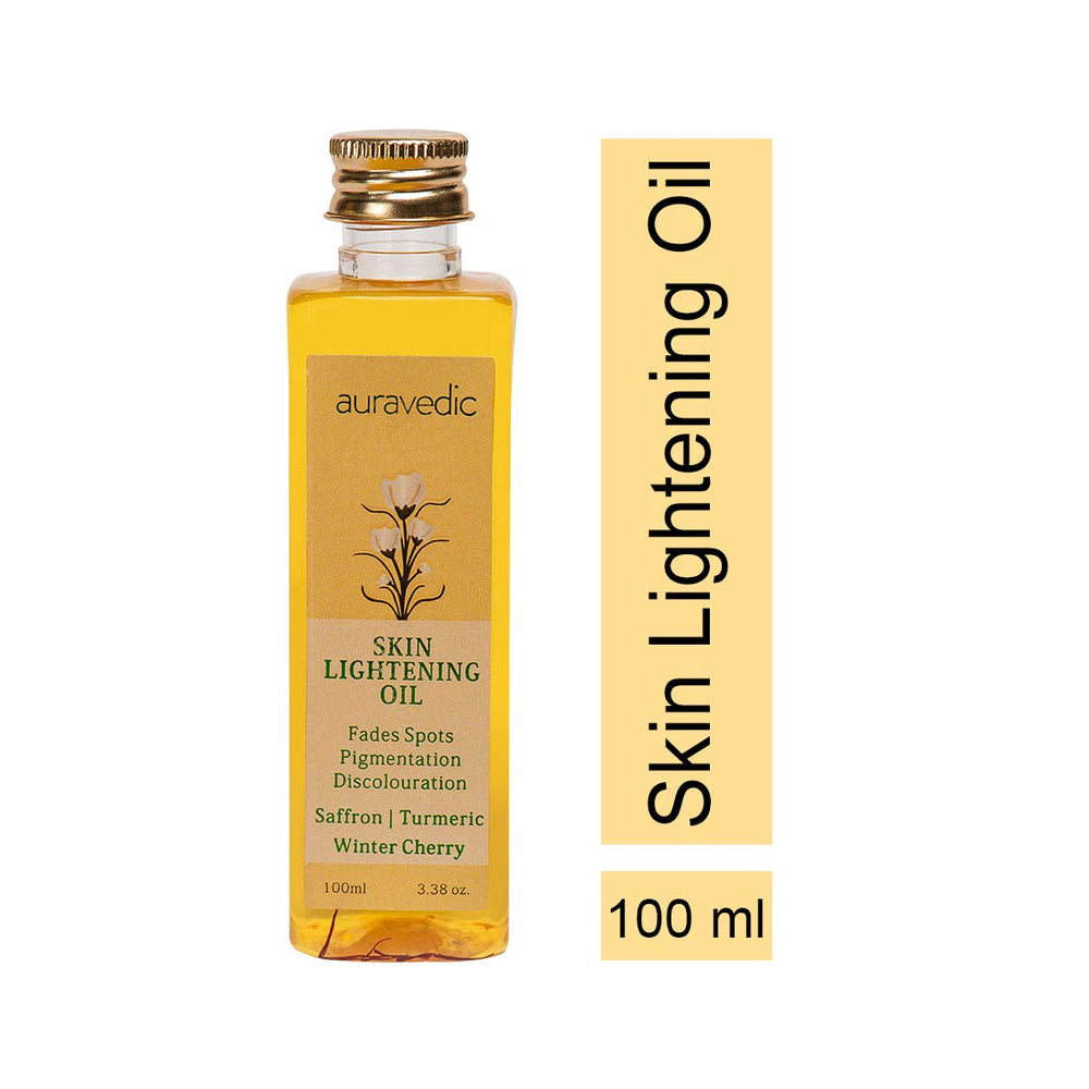 Auravedic Skin Lightening Oil with Saffron, Turmeric and Winter Cherry, 100 ml