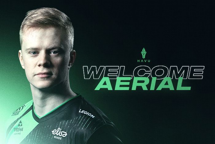 Welcome Aerial - CS:GO roster complete