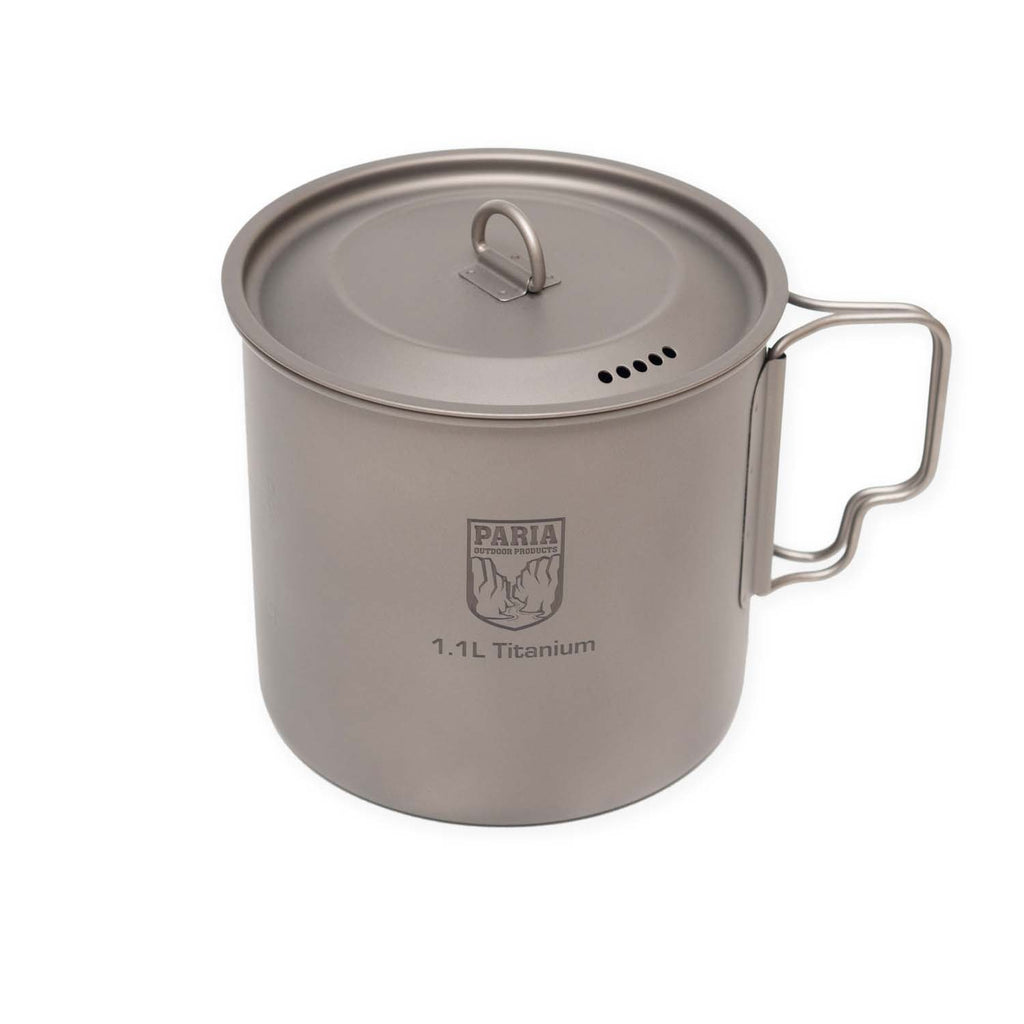 Camping Pot | 1100 ml Titanium Single Wall Ultralight Pot by Paria Outdoor Products
