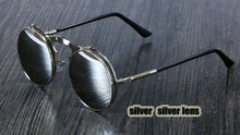 Load image into Gallery viewer, 3057 CCSPACE Retro Round Metal Steampunk Sunglasses