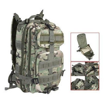 Load image into Gallery viewer, 30L Nylon Military Army Green Rucksack Trekking Bag