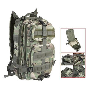 30L Nylon Military Army Green Rucksack Trekking Bag