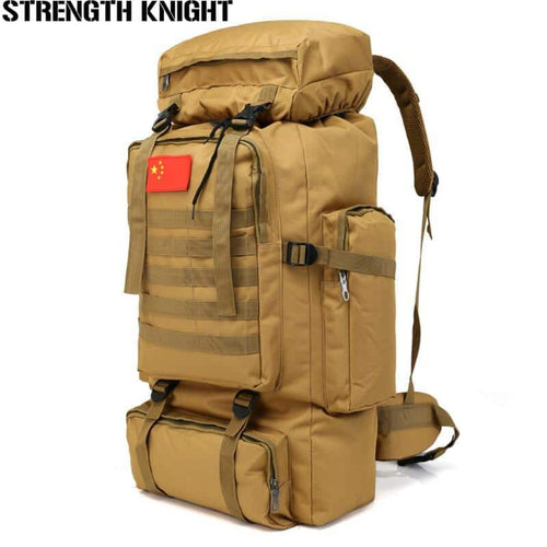 70L Large Capacity Backpack Waterproof Military Tactics Molle Bag Mens Rucksack for Hiking, Travel