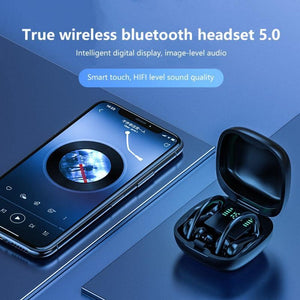 9D HiFi Bluetooth Stereo Sport/Business Hooked Headphones w/ Mic
