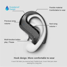 Load image into Gallery viewer, 9D HiFi Bluetooth Stereo Sport/Business Hooked Headphones w/ Mic