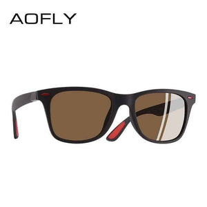 AOFLY Driving Square Frame UV400 Classic Polarized Sunglasses