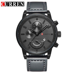 CURREN Men's Casual Sport Quartz Watch - Grey/Black/White