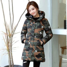 Load image into Gallery viewer, Camouflage Winter Women's Cotton Parka Jacket - Multicolor