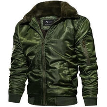 Load image into Gallery viewer, DIMUSI Mens  Bomber Jacket Thick Thermal Down Cotton Parka