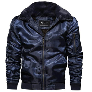 DIMUSI Mens  Bomber Jacket Thick Thermal Down Cotton Parka