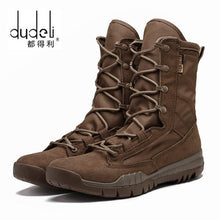 Load image into Gallery viewer, DUDELI Men's Military Leather Special Force Desert Tactical Combat Army Boots
