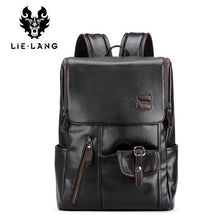"Load image into Gallery viewer, External USB Charge Anti-theft Leather Travel Bag, 14"" laptop carrying capacity"