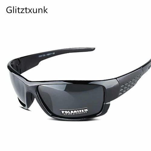 Glitztxunk  Black Sport Polarized Sunglasses