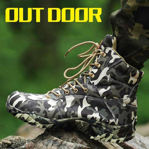 HAN WILD Military Army Waterproof Camouflage Tactical Combat Desert Ankle Boots